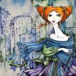 Batik artist Maria Kaminskaya