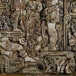 An eagle. Ceramic panel in the genre of fantasy. Artist Viktor Goryaev