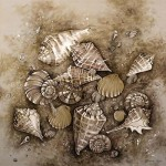 Painting on silk. Work by Moscow based artist Maria Kaminskaya
