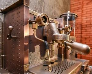 Dmitry Tikhonenko Steampunk coffee machine