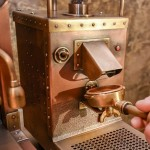 Using the coffee machine. Dmitry Tikhonenko Steampunk coffee machine