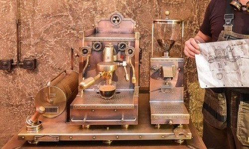 Dmitry Tikhonenko Steampunk Coffee Machine 4 Art