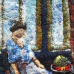 In the day light. Wool painting by Svetlana Dmitrieva