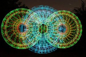 Take a trip and never leave the farm. Light painting by Wes Whaley
