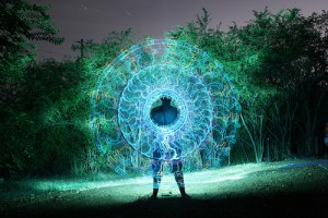 Down the hole. Light painting by Wes Whaley