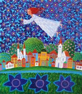 Naive painting by Olga Kvasha