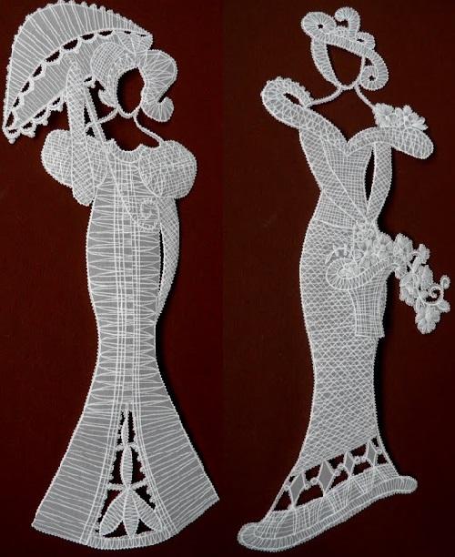 Parchment Craft Lace Like Paper Lady 5 Art Kaleidoscope