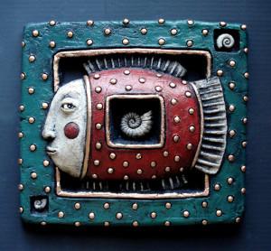 Roman Khalilov Surrealistic ceramic art