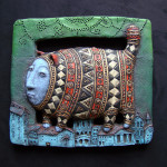 Roman Khalilov Surrealistic ceramic art
