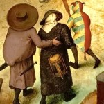 Strange people in painting by Pieter Bruegel