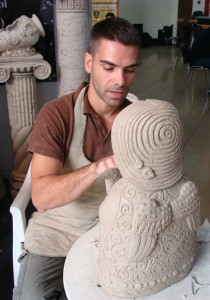 Talented ceramic artist Roman Khalilov