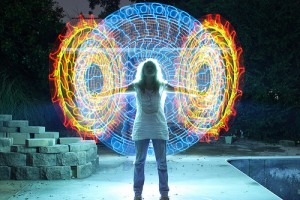 Lovely Being. Light painting by Wes Whaley