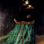 A woman in a green dress, Monet, 1866, Bremen, Germany