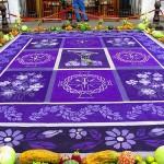 Guatemala street art Alfombras (Sand Carpet)