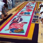 Scenes of everyday life. street art Alfombras (Sand Carpet)
