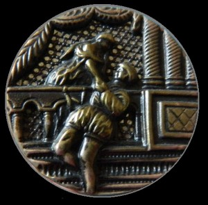 Romeo and Juliet antique Picture Large Button