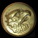 Gold brass Eagle Military dress shirt button