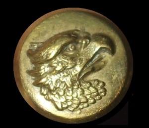 Gold brass Eagle Military dress shirt button