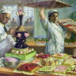 Artist O.D. Yanovskaya 'Cake workshop' 1937- 1939