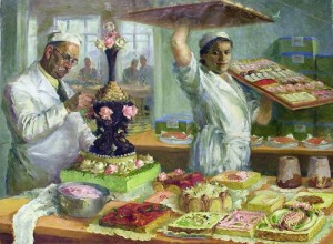 Artist O.D. Yanovskaya 'Cake workshop' 1937- 1939