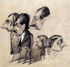 At the lessons Monet entertained himself by portraying his teachers in caricatures