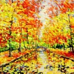 Autumn palette. Painting by Russian artist Evgeny Gavlin