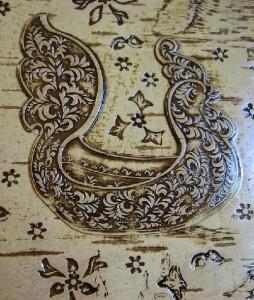 Detail of Birch bark box