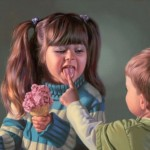 Ice cream in painting