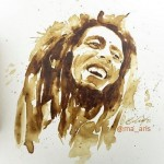 Bob Marley. Coffee illustration by Greek artist Maria Aristidou
