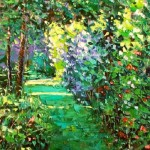 Breath of morning garden. Painting by Russian artist Evgeny Gavli