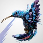 Sculpture of a bird. CD art by Sean Avery