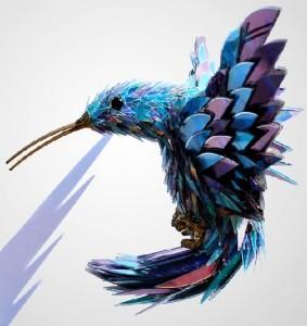 Sculpture of a bird. CD art by Sean Avery