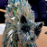 A cat. CD sculpture by Sean Avery