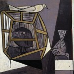Cage with an owl. 194