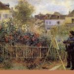 Claude Monet working in his garden. 1873. Musée d'Orsay, Paris