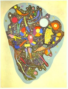 Colorful ensemble. 1938. Russian painter Wassily Kandinsky