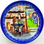 Pot maker. Decorative plate