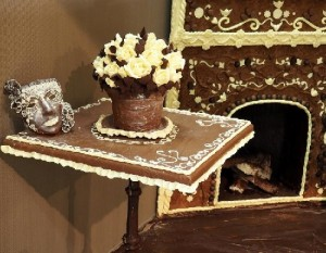 Gorgeous details of chocolate interior