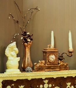 Amazing details of chocolate room interior