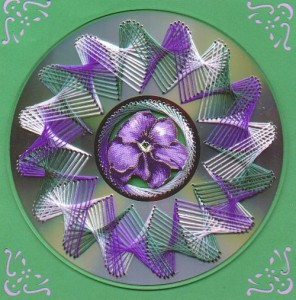 Embroidered Disks. It is recommended, however, to start with drilling tiny holes for the future pattern