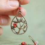 Rowan berry earrings