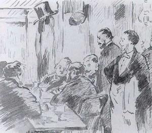 Edouard Manet At the Café Guerbois