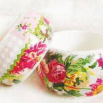 Flowers. Maya Valit. Handmade bracelet in the decoupage technique