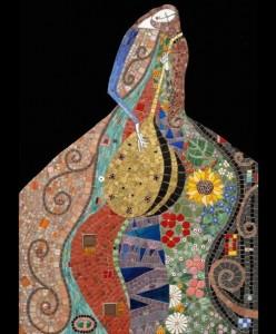 Playing the lute. Decorative Mosaics by Irina Charn