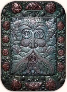 King of flora panel. 2006. Aluminum, anodized aluminum, copper, cold enamel, oil, blackening