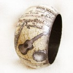 Man-band. Handmade bracelet in the decoupage technique. Work by Maya Valit
