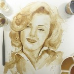 Marilyn Monroe. Coffee illustration by Maria Aristidou