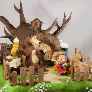 Masha and Bear Russian cartoon cake
