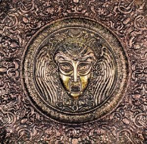 Medusa GORGONA Shield. 1993. Copper, brass, blackening