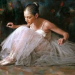 Painting ballerinas Chinese artist Stephen Pan
